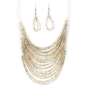 Catwalk Queen – Multi Necklace Earring Jewelry Set